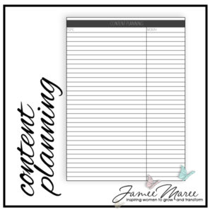 Are you a blogger like me, and have non-stop ideas coming to mind? Heavens, me too! Use this to keep those all in one place, and if you are like me, I print one out for each topic to keep it all organized.
