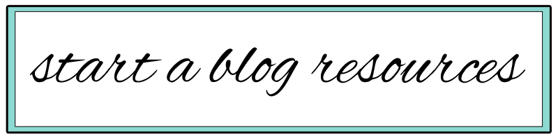 start-a-blog-resources
