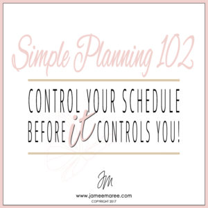 Are you ready to take back control of your schedule and life BEFORE it controls you? Let's do this!