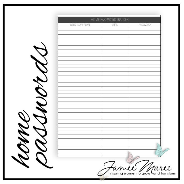 image regarding Password Printable named Dwelling Pword Printable