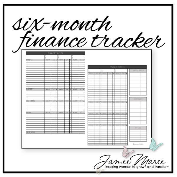 photograph regarding Spending Tracker Printable referred to as 6-Thirty day period Finance Tracker Printable
